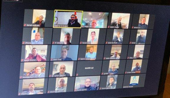 ÇTSO Meclis toplantısını video  konferansla yaptı