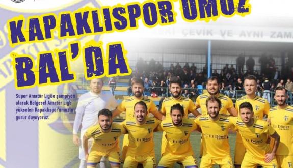 Çetin Kapaklıspor'a BAL'da başarı diledi