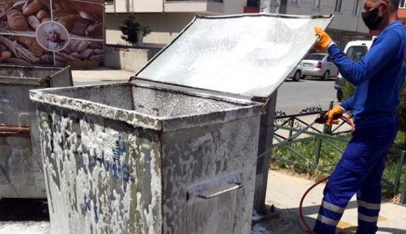 Çöp konteynerlerine ilaçlama
