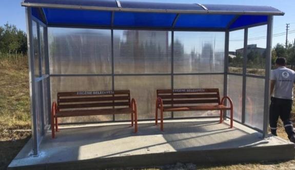 Ergene Belediyesi Otobüs Durakları ve Bankları Kendisi Üretiyor
