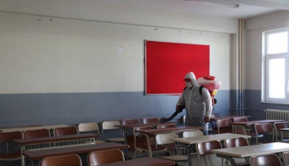Kapaklı okullarında dejenfektasyon