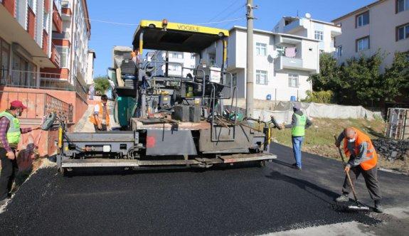 19 Mayıs Caddesi ve 14 Sokak'ta Sıcak Asfalt çalışmaları tamamlandı