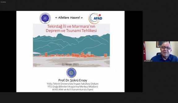 Tekirdağ İli ve Marmara'nın Deprem ve Tsunami Tehlikesi Konulu Konferans Gerçekleşti
