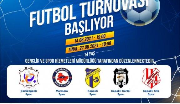U-14 Futbol Turnuvası Başlıyor