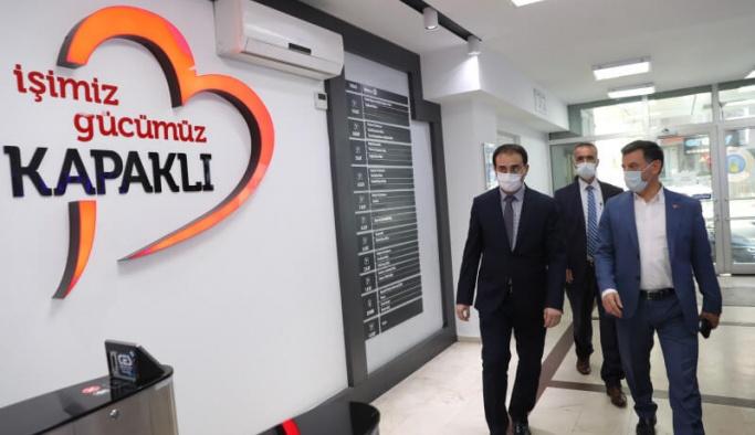Kaymakam Bayram Sağır, Başkan Çetin'i ziyaret etti