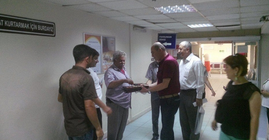 AKP'den hastalara bayram ziyareti