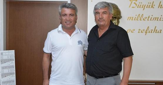 Alaçam Belediyesi eski Başkanı  Başkan Mandalıyı ziyaret etti