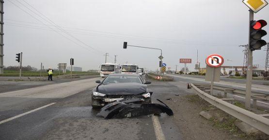 Başkanın makam aracı kaza yaptı