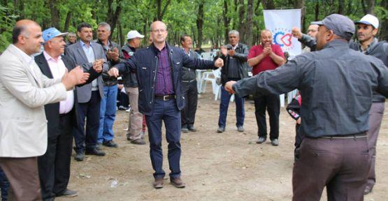 Belediye işçileri 1 Mayısı eğelenerek geçirdi