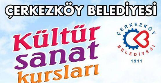 Çerkezköy Belediyesi 12 adet kurs düzenliyor