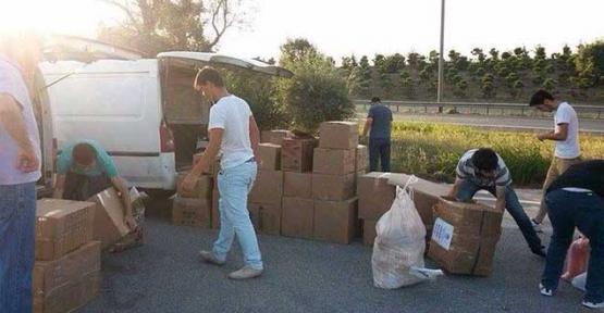 Kapaklı'dan Türkmenlere yardım