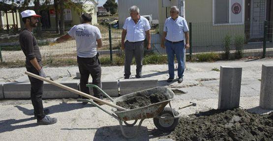 Karaağaç'ta yollar asfaltlanıyor