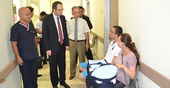 Kubilay İrmet Hospital'ı gezdi