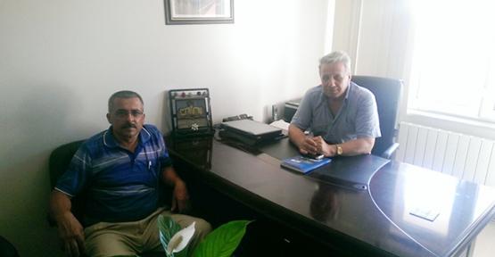 Muhtar Sevinç'ten Milli Eğitim Şube Müdürü'ne ziyaret