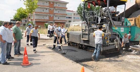 Samanyolu Sokak'ta asfalt çalışması tamamlandı