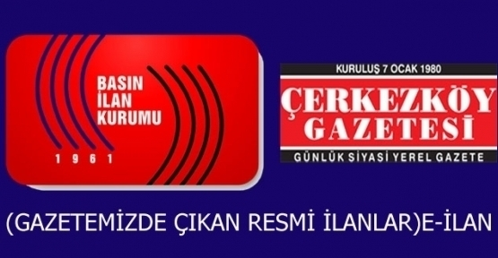 T.C. ÇERKEZKÖY İCRA DAİRESİ  2014/626 esas