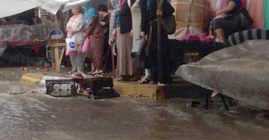 Tekirdağ merkezi sel vurdu