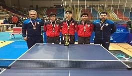 Masa tenisi takımından Türkiye 4'üncülüğü