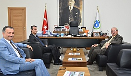 Başkan Albayrak Kaymakam Abban'ı makamında ağırladı