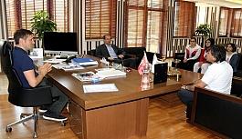 Türkiye Şampiyonundan Başkan Akay'a ziyaret