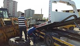 Terk edilmiş araçlar toplanıyor