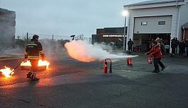 Temel yangın eğitimi verildi 