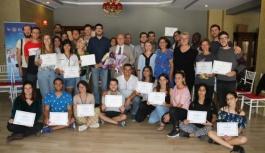 Misafir gençlere sertifikaları verildi