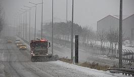 ÇOSB Müdürlüğü kar yağışında...