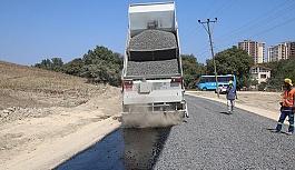 Koca Meşe yolu soğuk asfalt ile kaplandı