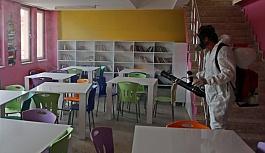 Çerkezköy Belediyesi okulları dezenfekte...