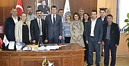 Yeni yönetim Başkan Akay'ı ziyaret...