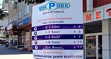 Çerkezköy'de ücretli park dönemi