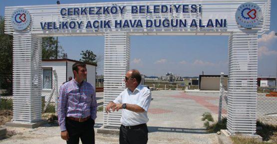 Veliköy Açık Hava Düğün Alanı tamamlandı