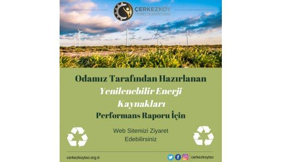 """ÇTSO'DAN  """"YENİLENEBİLİR ENERJİ KAYNAKLARI"""" RAPORU"""