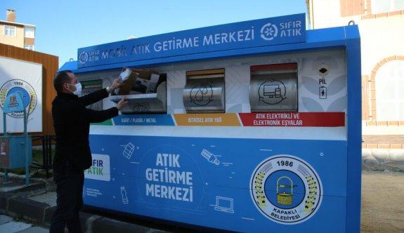 Mobil Atık Getirme Merkezi Üniteleri Yerleştirildi