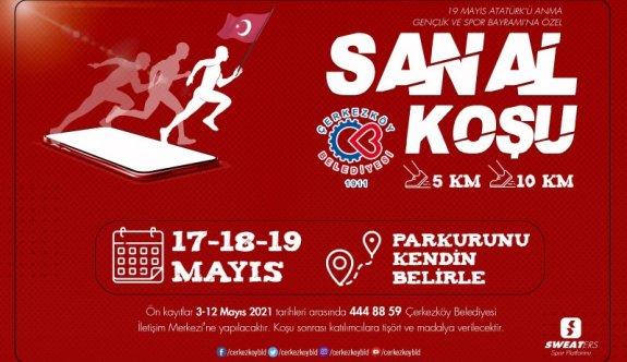 Çerkezköy Belediyesinden Sanal Koşu etkinliği