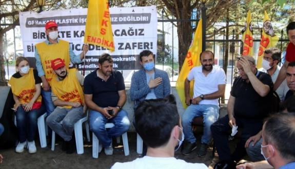 Akay'dan grevdeki işçilere ziyaret